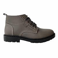 Giày Boot Nam Cao Cổ Buộc Dây Tăng Chiều Cao Da Bò Thật Nguyên Tấm HT611