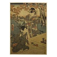 Tranh Toyokuni Momijigari No Himegimi (51.5 x 36cm)