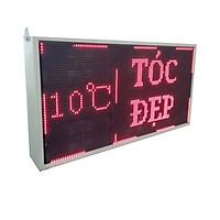 Biển quảng cáo màn hình LED thông minh HIKARU 1 màu, hai mặt hiển thị, KT cao 520mmx rộng 1000mm