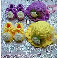 Set nón và giầy len cho bé sơ sinh đến 1 tuổi