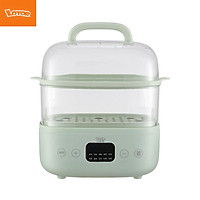 LOTOR Electric Steamer 6L Double Boiler 24hours Intelligent Reservation/800W Fast Heating/360°Circumlating Steam Machine