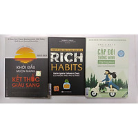 combo 3 cuồn sách: + Khởi đầu muộn màng kết thúc giàu sang + Rich habit thói quen thành công của những triệu phú tự thân + Cặp đôi thông minh sống trong giàu có