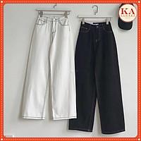 Quần kaki chỉ nổi KA Closet chất kaki from ống rộng chỉ nổi 2 size M và L