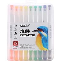 Bút Lông Tô Màu 2 Đầu Cứng và Mềm Baoke D289
