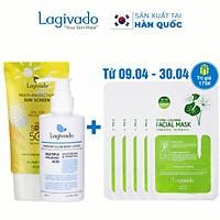 Bộ đôi Kem chống nắng Hàn Quốc Lagivado Multi-Protection 30 g và Kem body trắng da Everyday Glow 200ml