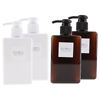 4x Refillable Pump Bottles Shampoo Lotion Conditioner Liquid Hand Soap Dispenser
