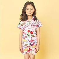 Bộ đồ ngắn tay mặc nhà cotton giấy cho bé gái U3030 - Unifriend Hàn Quốc, Cotton Organic