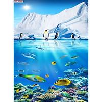 Tranh dán tường 3d đại dương - ép kim sa - có sẵn keo DD103