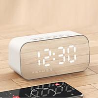 Đồng hồ báo thức kiêm loa Bluetooth, kiêm nhiệt kế, kiêm gương soi, kiêm đài nghe Radio, kiêm đồng hồ để bàn, chất lượng âm bass trầm vòm 6D cực chất, nhỏ gọn, thương hiệu Havit - Hàng chính hãng
