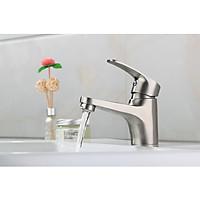 vòi rửa mặt inox 304 - tặng kèm dây cấp nước nóng lạnh