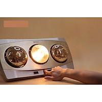 Đèn sưởi treo tường 3 bóng vàng hồng ngoại tráng kim cương nhân tạo Kottmann dùng công tắc –Bóng sưởi chống nổ, chống nước IPX2, chống chập điện (K3BH)
