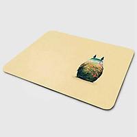 Miếng lót chuột mẫu Ghibli Nền Vàng Tee (20x24 cm) - Hàng Chính Hãng