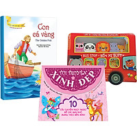 Combo Bộ 3 Cuốn: (Dành Cho Bé Gái Từ 0-3 Tuổi) Bus Stop - Bến Xe Buýt + Thế Giới Cổ Tich T.2 (Túi) Hồng +  Con Cá Vàng (Truyện Song Ngữ Anh - Việt)