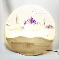 Đèn trang trí -  đèn gắn tường phòng ngủ, phòng khách LED hình dãy núi 3 màu ánh sáng  NATURAL LAMP