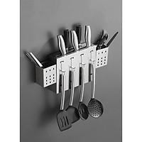 kệ treo dao đũa thìa nhà bếp full inox cao cấp - Kệ để dao đũa muỗm dán tường full inox - kệ treo đồ nhà bếp inox cao cấp
