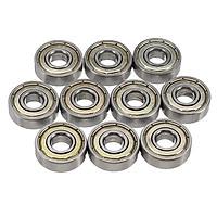 High Quality 10PCS ABEC-7 Deep groove ball bearing 608ZZ 8X22X7 mm bearing steel 608 ZZ skating bearing