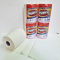 Combo (4 cuộn) giấy lau bếp trụ đứng  đa năng Jumbo Ponyo 2 lớp 500g/ cuộn, mềm, dai, lau tay, thấm dầu, lau chén dĩa