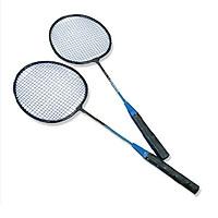 Cặp 2 vợt cầu lông tập luyện đan bằng sợi cước- Bộ 2 cây vợt cầu lông cho gia đình+ Tặng kèm túi đựng vợt tiện dụng- Vợt chơi cầu lông người lớn, cầu lông đan dây cước có túi đựng, giao màu ngẫu nhiên