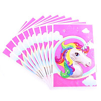 10 túi quà Party gift bag 17 x 25 cm hình bong bóng Unicorn