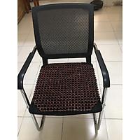 Lót ghế văn phòng hạt gỗ Trắc bóng hạt 12ly - Kích thước 45cm x45cm - Đệm , phụ kiện chăm sóc ghế cho dân văn phòng