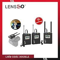 Micro Thu Âm Wireless LENSGO LWM-338C Double ( 2 phát 1 thu) - Chính Hãng