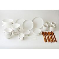Bộ chén đĩa gốm sứ cao cấp 4 người ăn - Mono - Erato - Hàng nhập khẩu