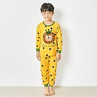 Bộ đồ dài tay mặc nhà cotton mịn cho bé trai U1016- Unifriend Hàn Quốc, Cotton Organic
