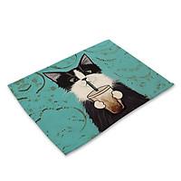 Tấm Lót Bàn Ăn Cao Cấp Con Mèo - TL76