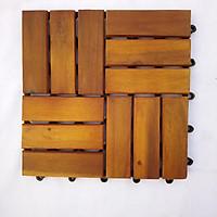 Thùng ván gỗ lót sàn 12 nan - nâu vàng (10 vỉ)