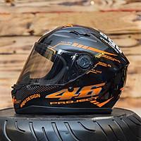 Nón Fullface Moto Phượt AGU 14 Đỏ _ Mũ Bảo Hiểm Đẹp