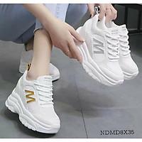 -Giày chữ M độn đế 6p hàng loại đẹp FULLBOX