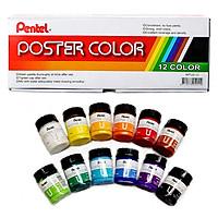 Màu Poster Pentel 12 màu