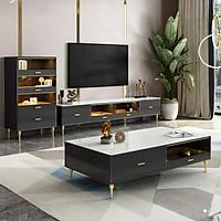 LUX.>>> Combo bộ bàn trà, kệ tivi, tủ góc phong cách Ý sang trọng hiện đại. Nội thất phòng khách