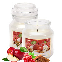 Hũ nến thơm tinh dầu Bartek Christmas Spices 130g QT018873 - cam, táo, quế (giao mẫu ngẫu nhiên)