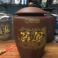 Hũ đựng 30kg gạo gốm sứ Bát Tràng