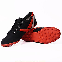 Giày vải đinh Thượng đình đá bóng màu đen BD16