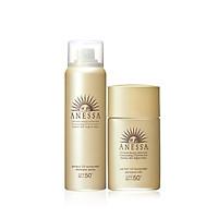 Bộ kem chống nắng Anessa dạng xịt và sữa chống nắng bảo vệ hoàn hảo (Anessa Perfect UV Sunscreen Skincare Spray and Milk)