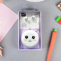 Tai nghe nhét tai thời trang Hàn Quốc cực cute có míc, có hộp đựng tai