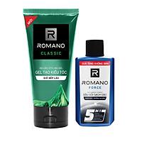 Gel Tạo kiểu tóc giữ nếp lâu làm mềm tóc 150g tặng dầu gội sạch gàu Romano Force 60r