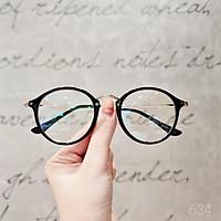 Gọng kính cận nữ Lilyeyewear kim loại, mắt tròn kiểu dáng thời trang ulzzang hàn quốc 634