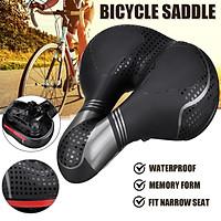 Big Wide Bum Bike Seat Mountain Bicycle Saddle Sporty Gel Extra Comfort Soft Pad