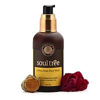 Sữa Rửa Mặt Hoa Hồng Sạch Da - Dưỡng Ẩm Dành Cho Da Thường, Khô Soultree India Rose Facewash 120ml