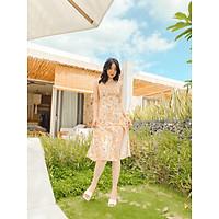 Đầm thiết kế dây vàng nâu hai dây Abilene  Dress Gem Clothing SP006154