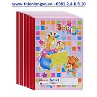 Lốc 10 quyển vở 4 ô ly Bạn nhỏ 48 trang Hồng Hà 0509 - màu hồng