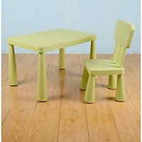 Bộ bàn ghế Nhựa Cao Cấp cho Bé - Màu Xanh Bơ