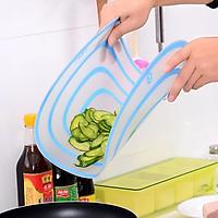 Bộ 2 Thớt nhựa dẻo chống khuẩn có thể uốn cong ( 2 cái)