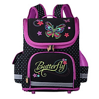 Balo chống gù lưng dạng hộp cho học sinh các cấp - ButterFly Tím đậm