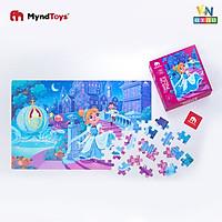 Đồ Chơi Xếp Hình MyndToys - Classic Tale Puzzle – Cinderella (Cô bé Lọ Lem 126 mảnh ghép cho Bé Từ 3 Tuổi)