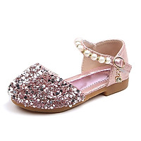 Children Casual  Shoes Sequins Breathable Rhinestone Pearls Design Kids Girls Princess Shoes For Dance Children Shoes