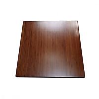 Mặt bàn tre HIGHLAND 60x60N - Mặt bàn tre ép dày 25mm, hình vuông, cạnh bàn a=60cm, màu nâu cánh dán